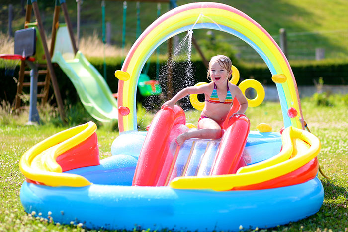 Make your Garden Kid Friendly with an Inflatable Swimming Pool with Slide