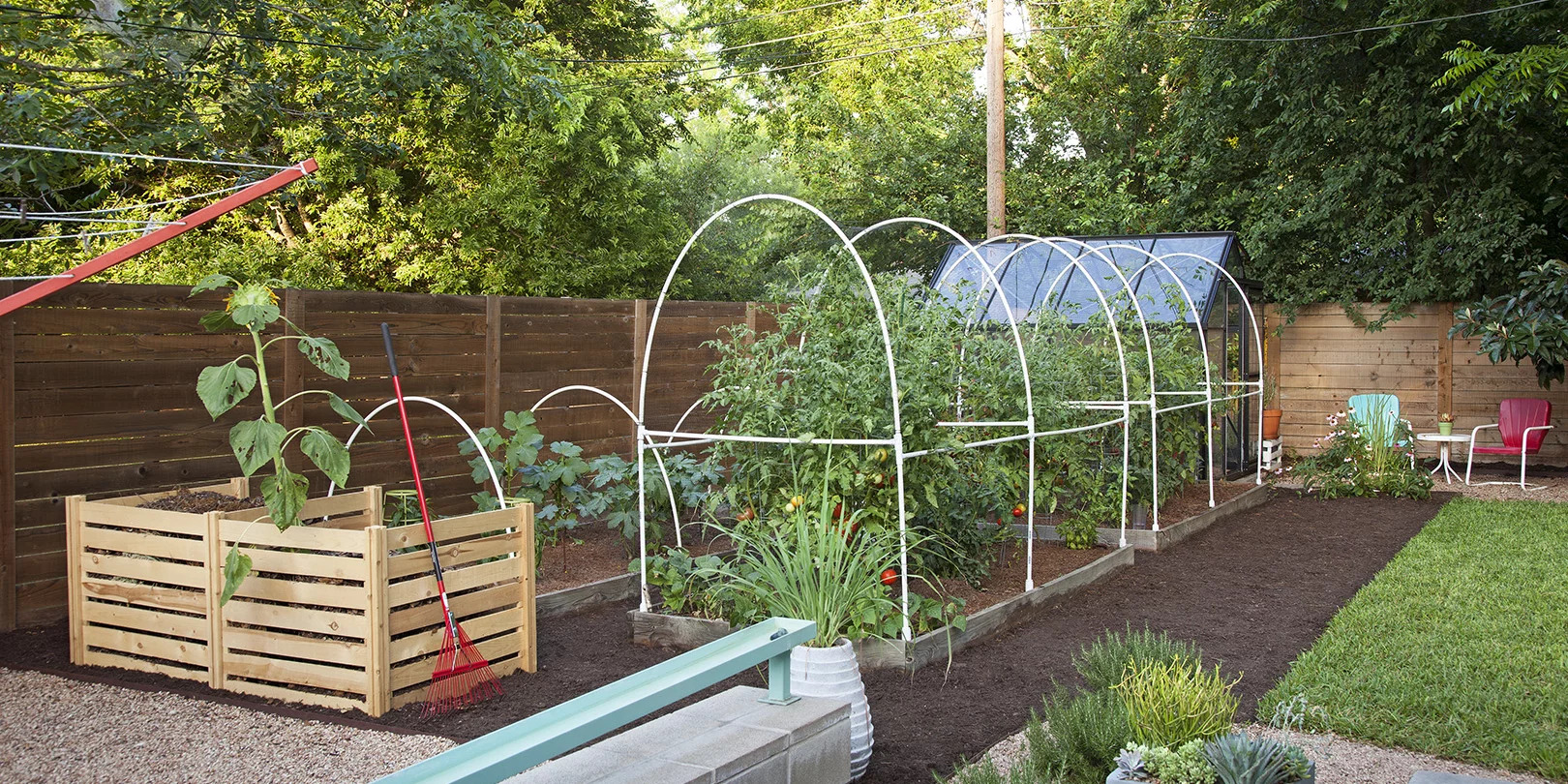 Gardening with PVC Piping