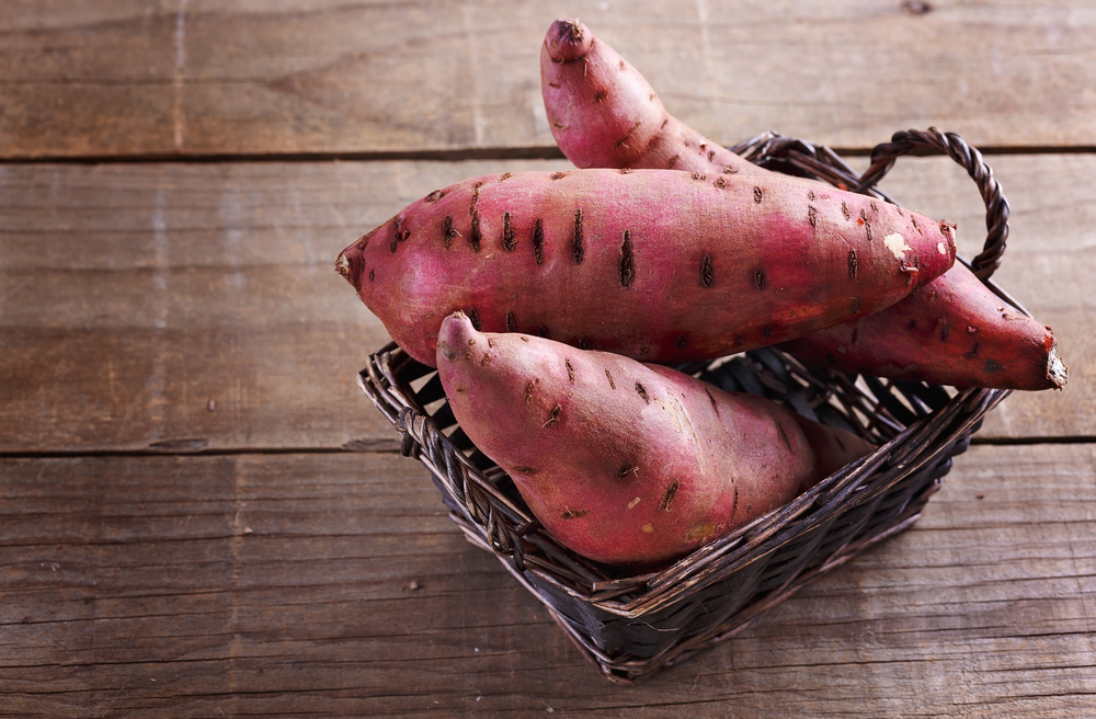 As compared to the regular potatoes, sweet potatoes have slightly lower carb contents.